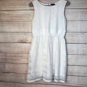 As U-Wish off white lace dress Sz 7